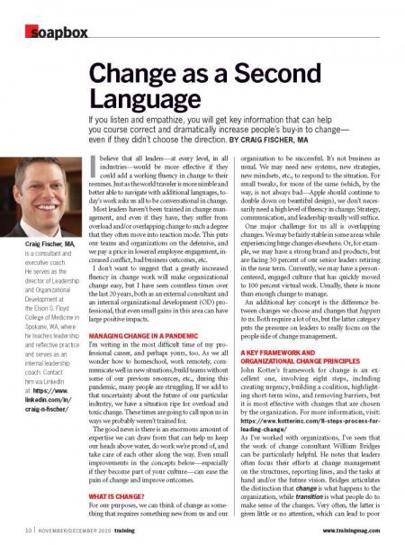 Change-as-a-Second-Language